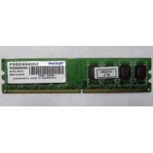 Модуль оперативной памяти 4Gb DDR2 Patriot PSD24G8002 pc-6400 (800MHz)  (Электрогорск)